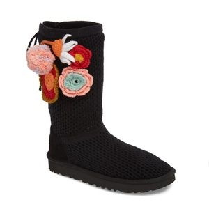 Classic floral crochet UGG